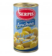 Aceitunas R/Anchoa Serpis Suaves Lata 150 grs