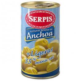 Aceitunas R/Anchoa Serpis Suaves Lata 150 grs