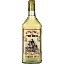 Tequila Tres Ochos Gold 70 cl - Mejico